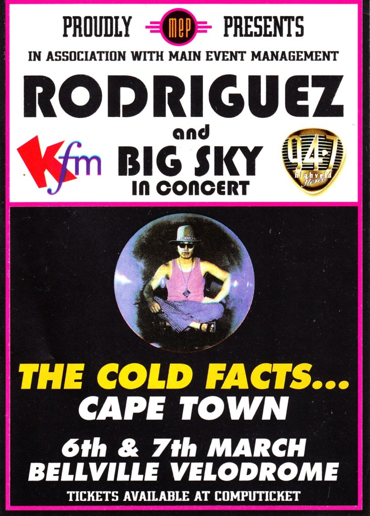 Flyer: The Cold Facts... Cape Town 6th & 7th March 1998
